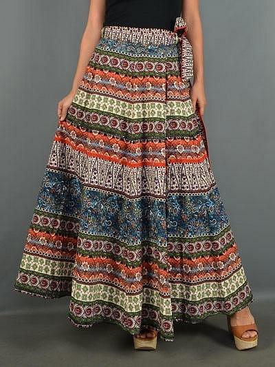 Etno zavinovací sukně