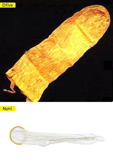 Kondom - dřívější verze sloužila majiteli k opakovanému použití, vymývala se mlékem a vodou