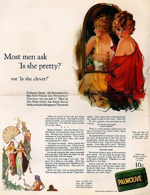 Muž se neptá, zda je chytrá, ale zda je hezká!