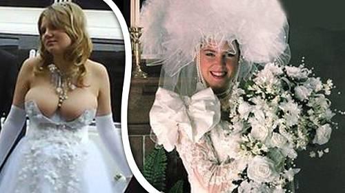 Tyto svatební šaty se nepovedly...