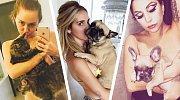 Nový trend Instagramu: Zvířata na nahém těle! Je to vkusné, nebo odporné?