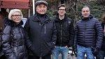 Miroslav Donutil s manželkou a syny Tomášem a Martinem