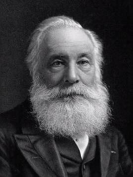 William Henry Perkin, který náhodou objevil nádherné fialové barvivo, ovšem zdraví škodlivé...