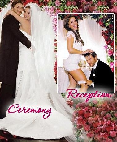Britney Spears a její svatba s Kevinem Federlinem. Ty šaty na recepci po svatbě jsou nějaké krátké, co říkáte?