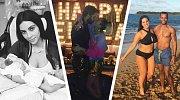 První selfie celebrit roku 2017: Nahota, rodina, pláže i svahy