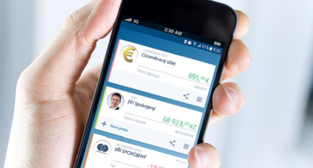 Peníze pod kontrolou díky mobilní aplikaci.