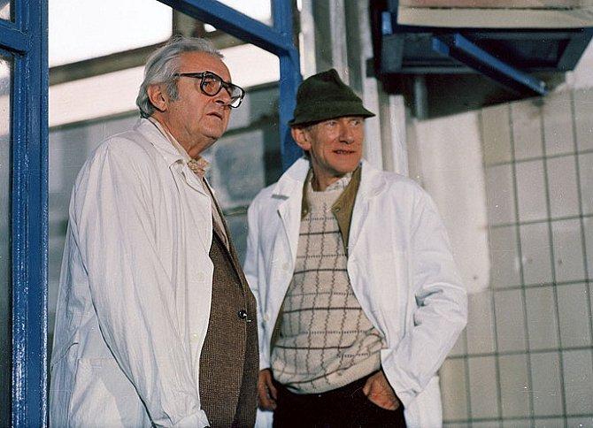 Jiří Sovák a František Husák ve filmu Druhý dech