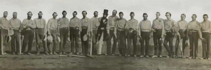 První basebollový tým na světě, 1858