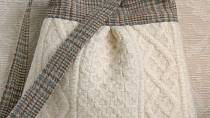 Elegantní kabelka ušitá ze svetru