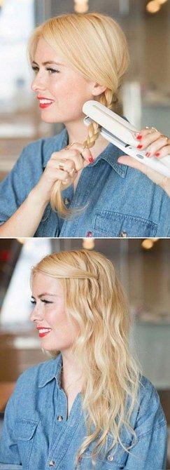 Pokud si chcete jen trochu navlnit vlasy, můžete to udělat takto.