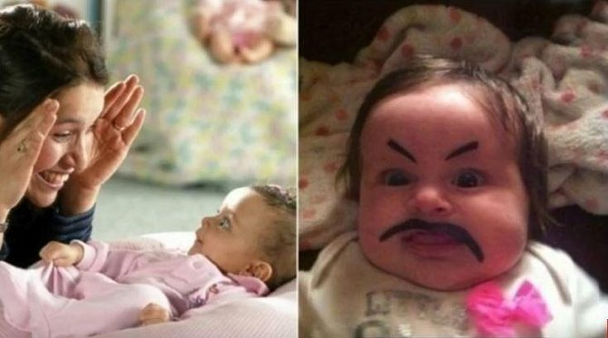 Fotogalerie: Když hlídá máma a naopak, když hlídá táta! Tohle vás zaručeně pobaví!
