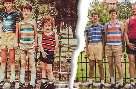 Napodobili do detailu fotografie z dětství. Vy u jejich prohlížení budete umírat smíchy!