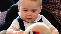 George, když byl miminko.