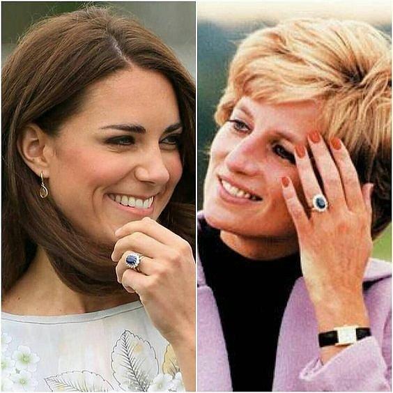 Vévodkyně Kate podědila po Dianě prsten.