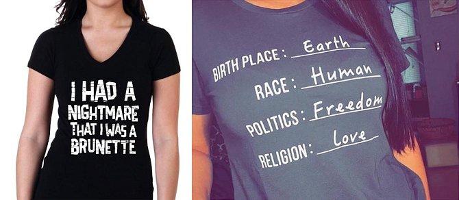 Tričko s nápisem