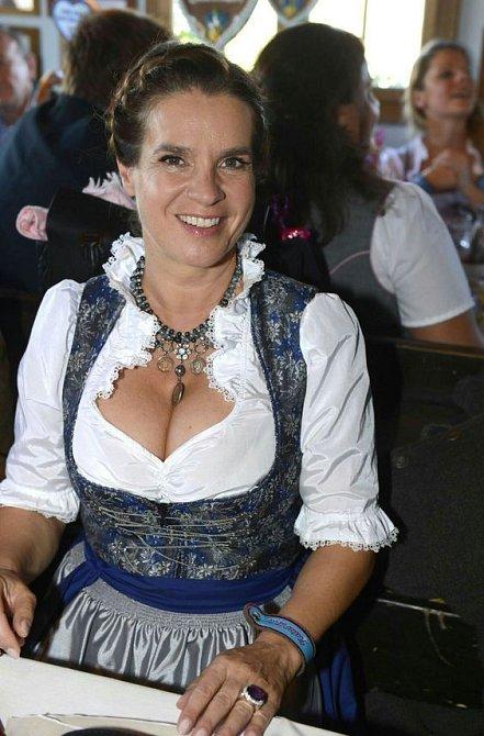 Krasobruslařka Katarina Witt je na svůj německý původ náležitě pyšná.