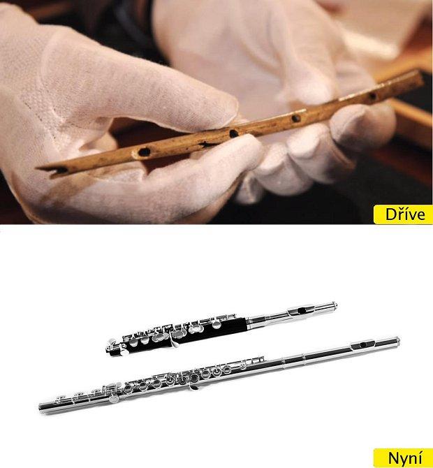 Hudební nástroj - flétna - ta nejstarší pochází z místa ležícího na území dnešního Německa a je vyrobena z kosti