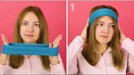 Chtěla byste přirozené kudrny? Vemte látkovou čelenku a dejte si ji na hlavu.
