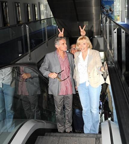 S Marií Poledňákovou a filmovým kolegou Jiřím Bartoškou v zádech