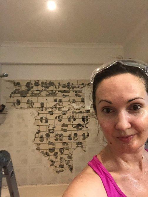 Rebecca Andrews zrekonstruovala koupelnu za 710 dolarů.