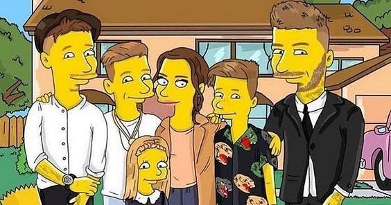 Beckhamovi s Simpsonových