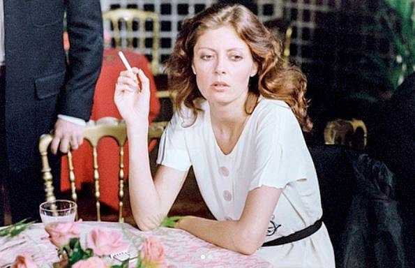 Susan Sarandon na festivalu v Cannes 1978