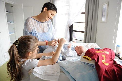 Vlaďka s dcerou a synem