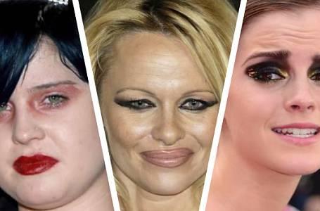 Nejhorší přešlapy celebrit s make-upem, které jste kdy viděli