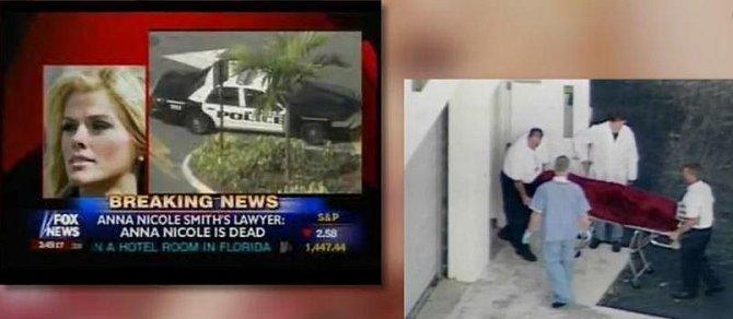 Anna Nicole Smith a její úmrtí v médiích.