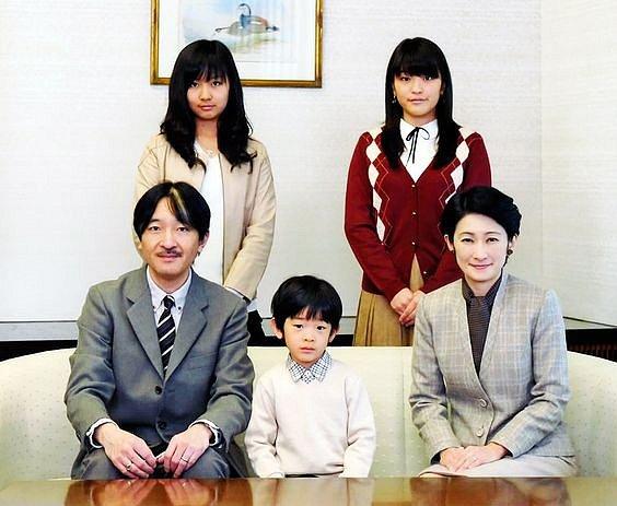 Princezna Mako s rodinou