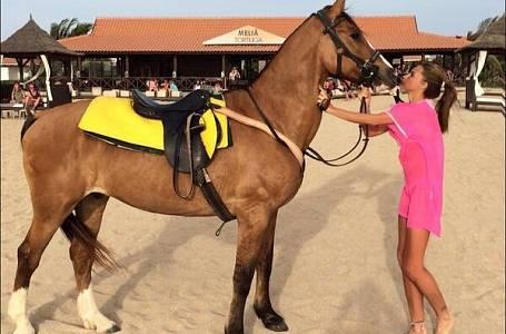 Katie Price se svým koněm.