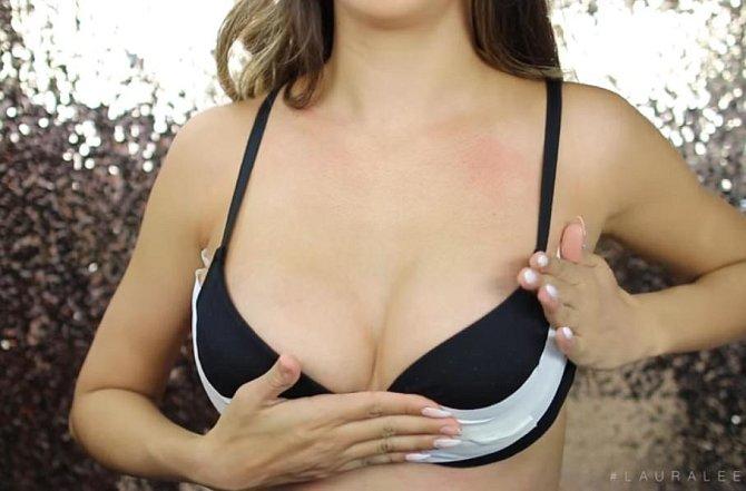3. zvednutí prsou - pomocí lepenky můžete i ňadro dotvarovat