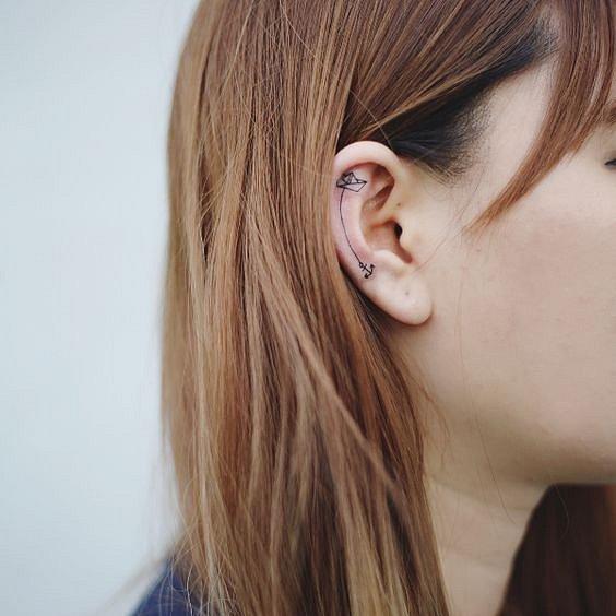 Tetování na uchu