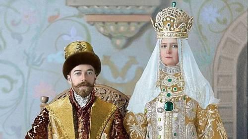 Car Mikuláš II. s ženou
