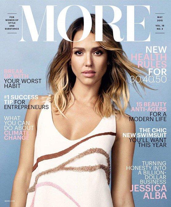 Jessica Alba na titulní stránce časopisu More