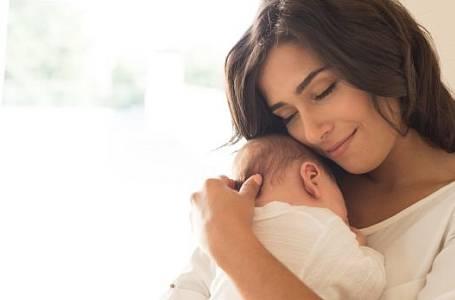 Radostná chvíle s miminkem.