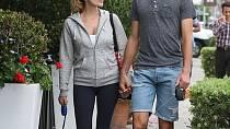 Novak Djokovič s ženou Jelenou Ristic