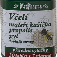 Včelí mateří kašička, propolis a pyl, MedPharma
