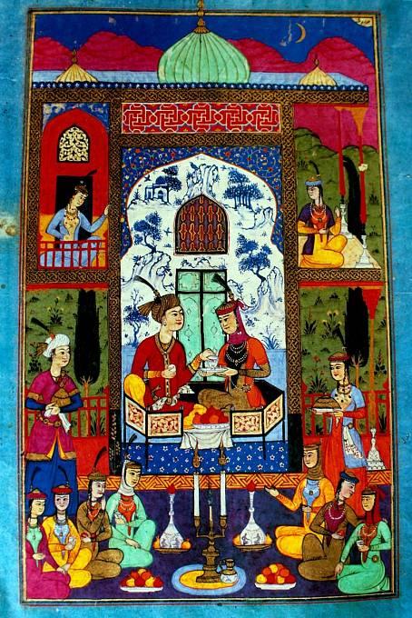 Sultán s první manželkou.