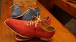 semišové letní boty Oxford
