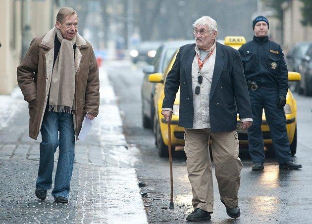 Pavel Landovský s Václavem Havlem