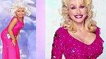 Tady je i se svou předlohou Dolly Parton.
