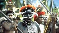 Ilustrační foto - Papua-Nová Guinea - kmenoví válečníci