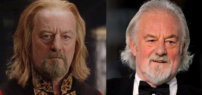Theoden, král Rohanský, hraný Bernardem Hillem, toho můžete znát také jako kapitána nepotopitelného Titanicu. Moc se totiž od té doby nezměnil.