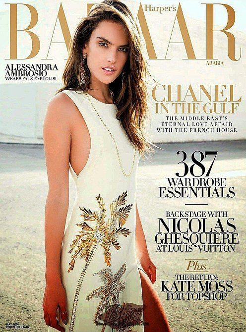 Alessandra Ambrosio na titulní stránce časopisu Harper's Bazaar