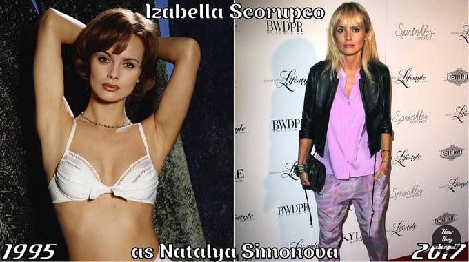 Herečka Izabella Scorupco coby Natalya Simonova