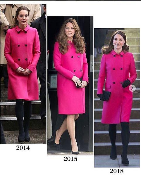 Kate obléká některé součásti svého šatníku znovu poměrně často.
