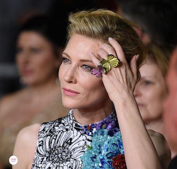 Cate Blanchett je známá svou slabostí pro šperky značky Choppard.