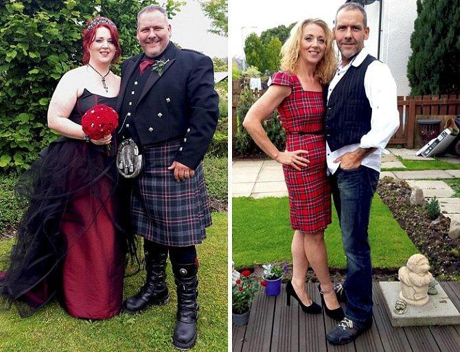 Mark Fell a jeho žena jsou pyšní Skoti. Už jim ale vadilo, kolik metrů látky padne na jejich pro Skoty tolik typické oblečení. Zhubli a rozhodně teď ušetří za látku...