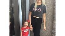 Mandy před třemi roky během svého prvního těhotenství přibrala 35 kilogramů.